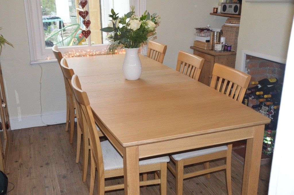 Light Oak Dining Tables And 6 Chairs In Favorite Light Oak Dining Table And 6 Chairs From John Lewis  Immaculate (View 9 of 20)