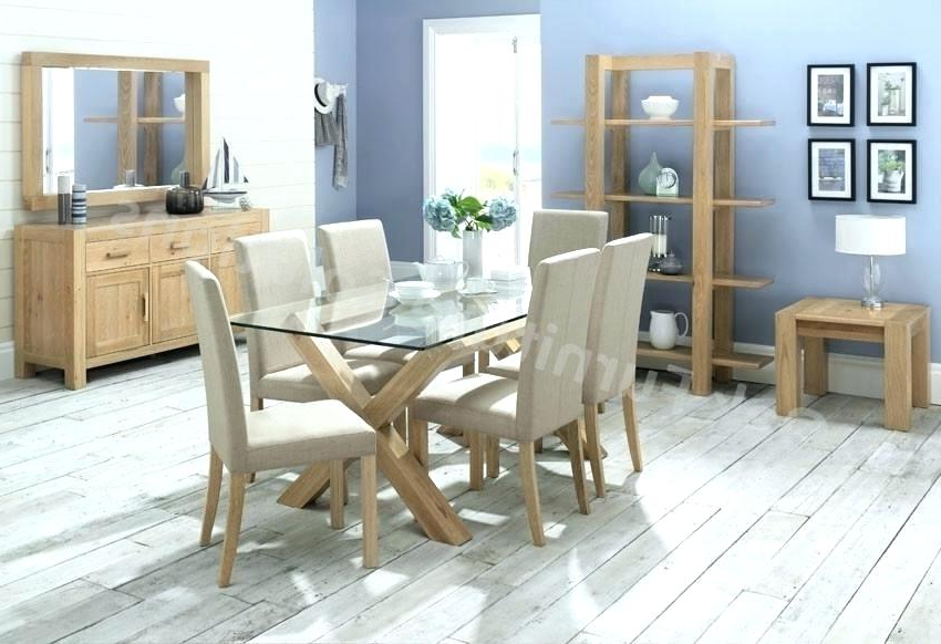 Light Oak Dining Tables And 6 Chairs With Most Up To Date Light Oak Dining Table And 6 Chairs Second Hand Room Living Leather (View 11 of 20)