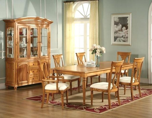 Light Oak Dining Tables And Chairs In Widely Used Honey Oak Dining Room Chairs Light Oak Dining Table And Chairs Go To (Gallery 15 of 20)