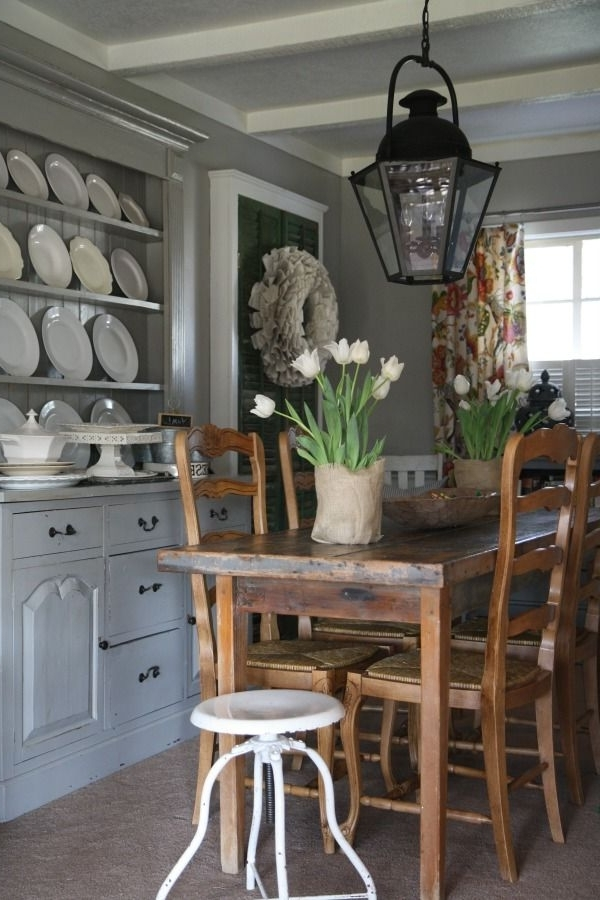 Lighting For Recent Bale Rustic Grey Dining Tables (View 13 of 20)