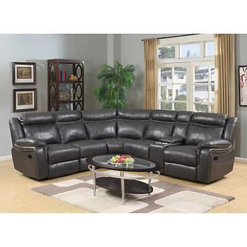 Lindell 6 Piece Top Grain Leather Reclining Sectional (View 12 of 20)