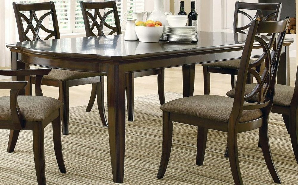 Lindy Espresso Rectangle Dining Tables Pertaining To Best And Newest Espresso Rectangular Dining Table – Dining Tables Ideas (Gallery 3 of 20)