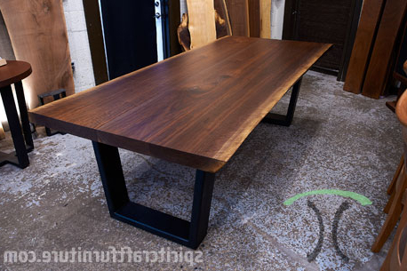 Live Edge Walnut Dining Tables And Tops In Chicago Area Throughout Well Liked Walnut Dining Tables (View 12 of 20)