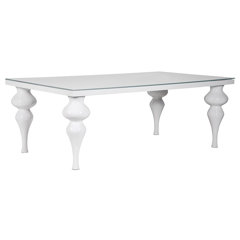 Living Rooms Direct In Large White Gloss Dining Tables (View 2 of 20)