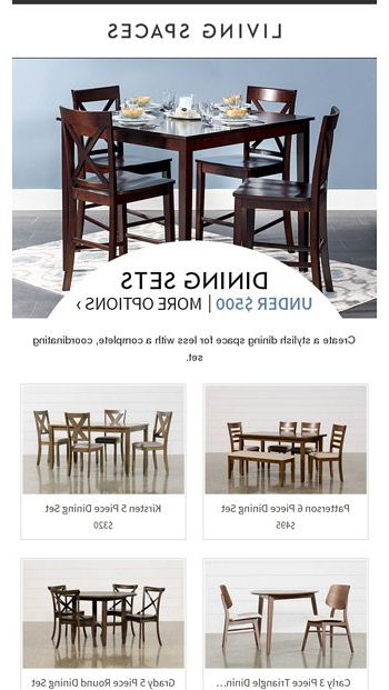 Living Spaces Email Newsletters In Favorite Kirsten 5 Piece Dining Sets (Gallery 16 of 20)