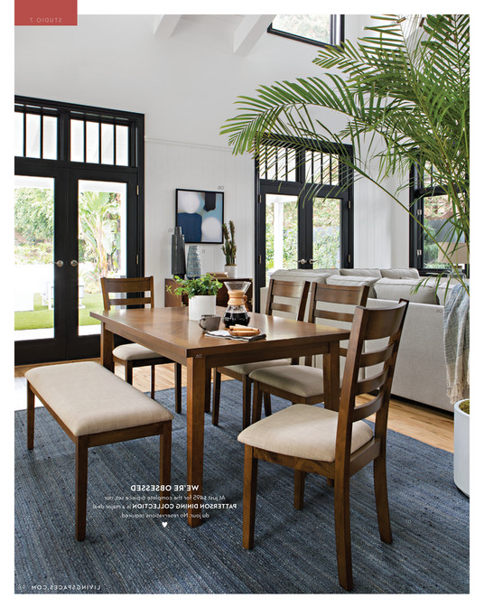 Living Spaces – Fall 2017 – Patterson 6 Piece Dining Set Intended For Recent Patterson 6 Piece Dining Sets (Gallery 1 of 20)