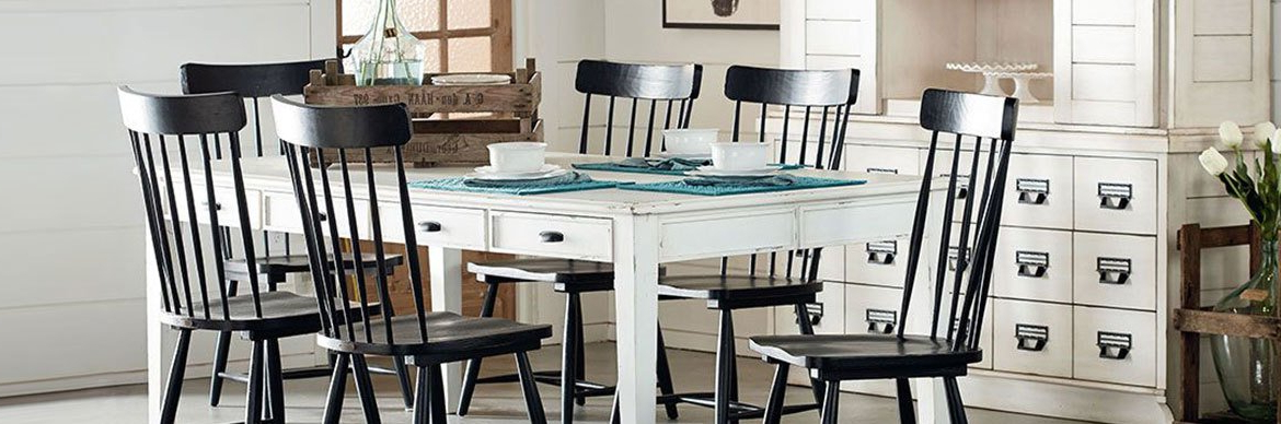 Living Spaces For Most Current Magnolia Home Breakfast Round Black Dining Tables (View 9 of 20)