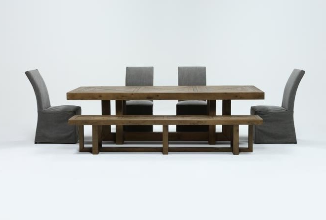 Living Spaces Intended For Norwood 9 Piece Rectangular Extension Dining Sets With Uph Side Chairs (View 6 of 20)
