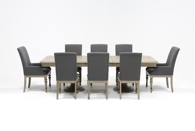 Living Spaces Pertaining To Caira Extension Pedestal Dining Tables (View 10 of 20)