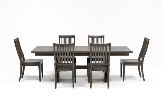 Living Spaces Throughout Valencia 72 Inch 6 Piece Dining Sets (Gallery 1 of 20)