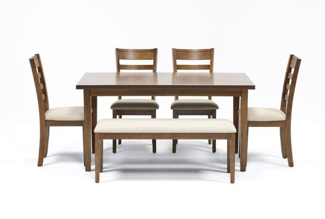 Living Spaces With Patterson 6 Piece Dining Sets (View 2 of 20)