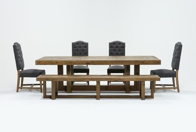 Living Throughout Palazzo 7 Piece Dining Sets With Mindy Slipcovered Side Chairs (View 13 of 20)