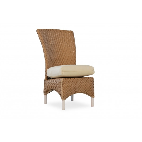 Lloyd Flanders Mandalay Wicker Armless Dining Chair (View 16 of 20)