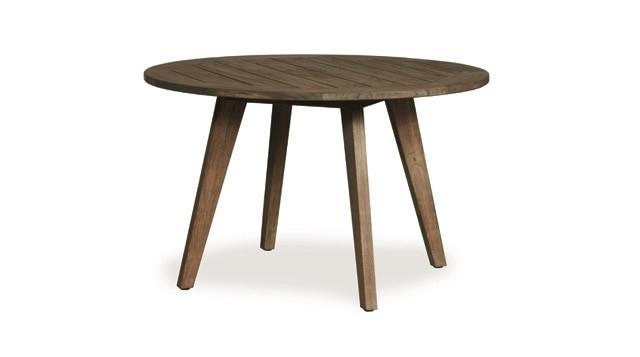 "Lloyd Flanders Wildwood 48"" Round Teak Dining Table – Wicker Dining Regarding Fashionable Round Teak Dining Tables (Gallery 14 of 20)"