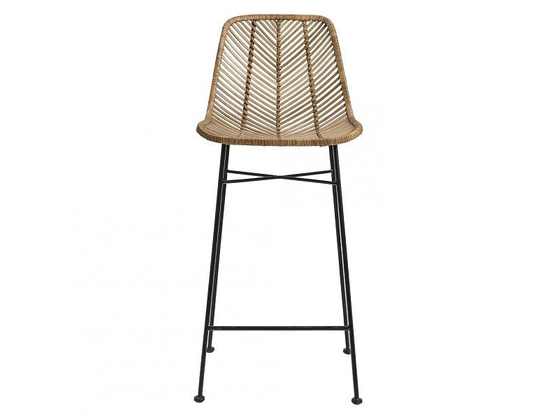 Loft Vee Rattan Bar Stool – Natural – Loft Furniture Intended For Widely Used Natural Rattan Metal Chairs (Gallery 15 of 20)
