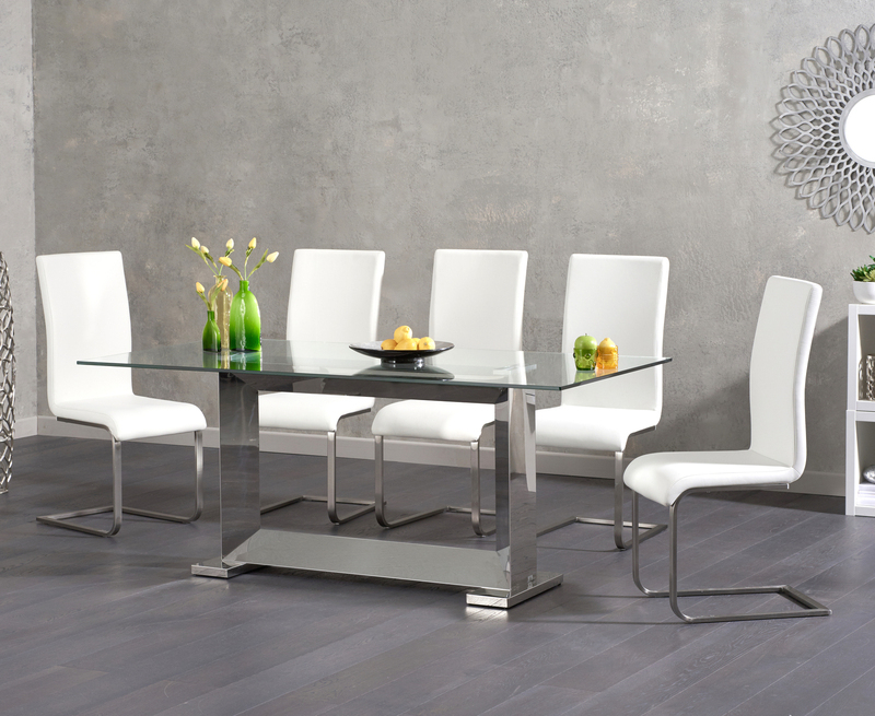 [%Logan 180Cm Glass Dining Table +6 Malibu White Chairs [311014 Regarding Favorite Logan 6 Piece Dining Sets|Logan 6 Piece Dining Sets With Regard To 2018 Logan 180Cm Glass Dining Table +6 Malibu White Chairs [311014|Most Up To Date Logan 6 Piece Dining Sets Regarding Logan 180Cm Glass Dining Table +6 Malibu White Chairs [311014|Most Up To Date Logan 180Cm Glass Dining Table +6 Malibu White Chairs [311014 Pertaining To Logan 6 Piece Dining Sets%] (View 1 of 20)