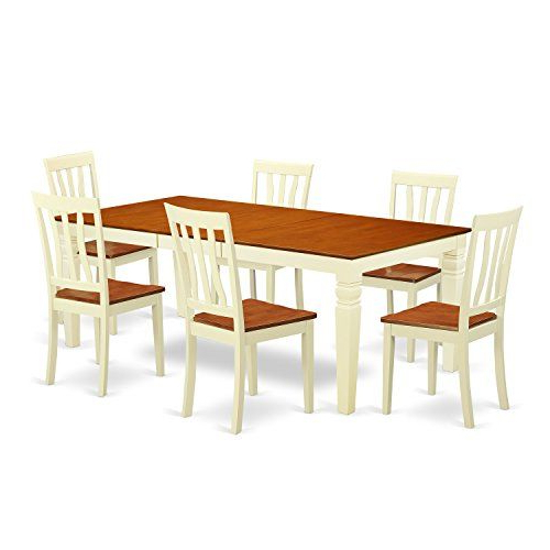 Logan 6 Piece Dining Sets Throughout Current East West Furniture Lgan7 Bmk W 7Piece Kitchen Dinette Set With One (Gallery 17 of 20)