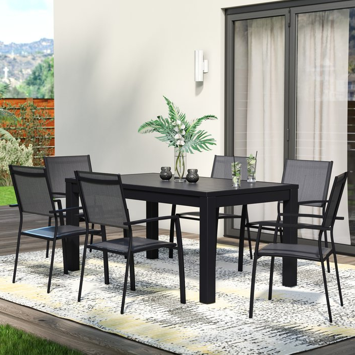 Logan 7 Piece Dining Sets With 2017 Wade Logan Balducci 7 Piece Dining Set & Reviews (View 6 of 20)
