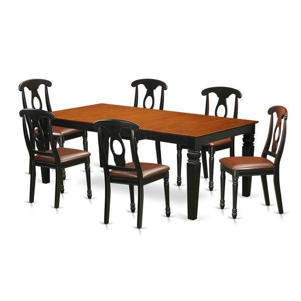 Logan 7 Piece Dining Sets Within Preferred Shop Lgke7 Bch 7 Piece Kitchen Table Set With One Logan Table And (View 8 of 20)