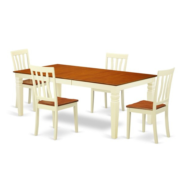 Logan Dining Tables Regarding 2018 Shop Logan Extendable Buttermilk And Cherry Dining Table Set (5  (View 7 of 20)
