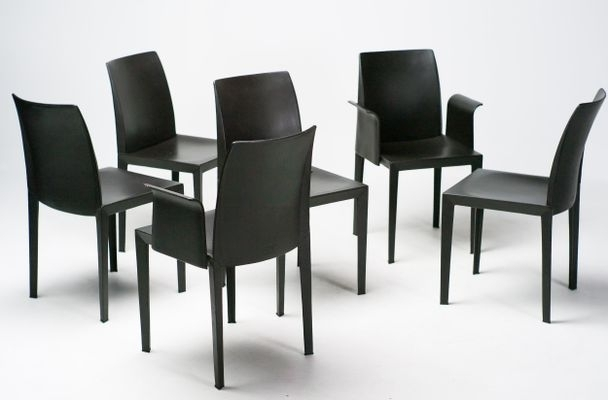 Lola Dining Chairsluigi Cerri For Poltrona Frau, Set Of 6 For In Latest Lola Side Chairs (View 10 of 20)