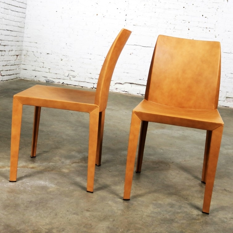 Lola Side Chairs In Latest Pair Poltrona Frau Lola Dining Side Chairspierluigi Cerri (View 7 of 20)