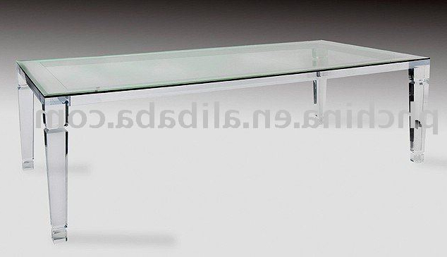 Long Crystal Clear Acrylic Dining Table,glass Top Top Grade Coffe Pertaining To Best And Newest Round Acrylic Dining Tables (View 14 of 20)
