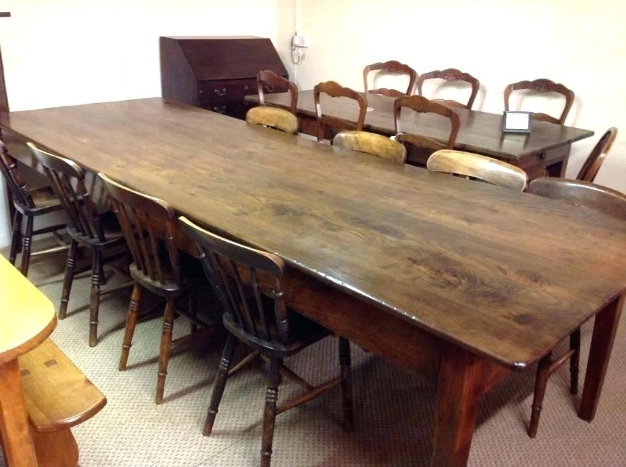 Long Wood Tables For Sale Long Wood Dining Tables Skinny Dining With Current Big Dining Tables For Sale (View 12 of 20)