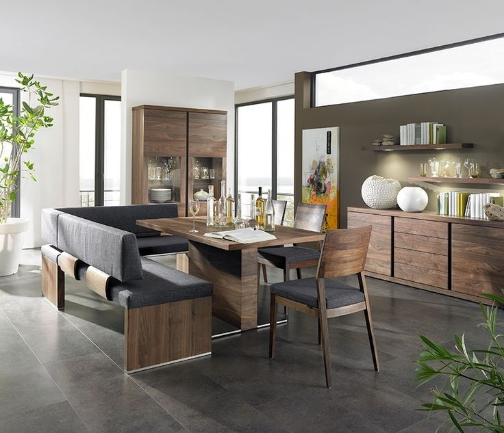 Lovable Dining Bench Seat Upholstered Dining Room Bench With Back Inside Fashionable Bench With Back For Dining Tables (View 12 of 20)