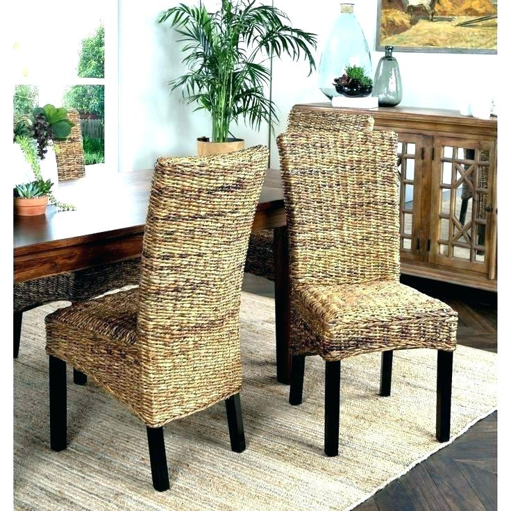 Lovely Wicker Dining Room Chairs Glass Dining Table With Wicker In Trendy Wicker And Glass Dining Tables (View 7 of 20)