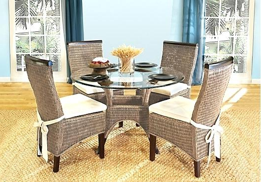 Lovely Wicker Dining Room Chairs Outdoor Wicker Dining Table And Regarding Latest Rattan Dining Tables And Chairs (Gallery 7 of 20)