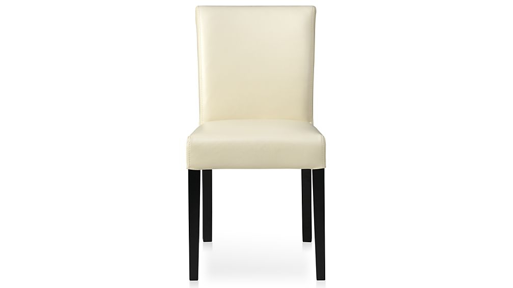 Lowe Ivory Leather Dining Chair + Reviews (Gallery 3 of 20)