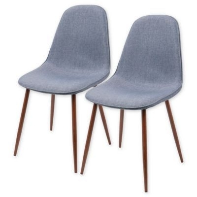 Lumisource Pebble Dining Side Chairs In Blue (Set Of 2) (View 8 of 20)