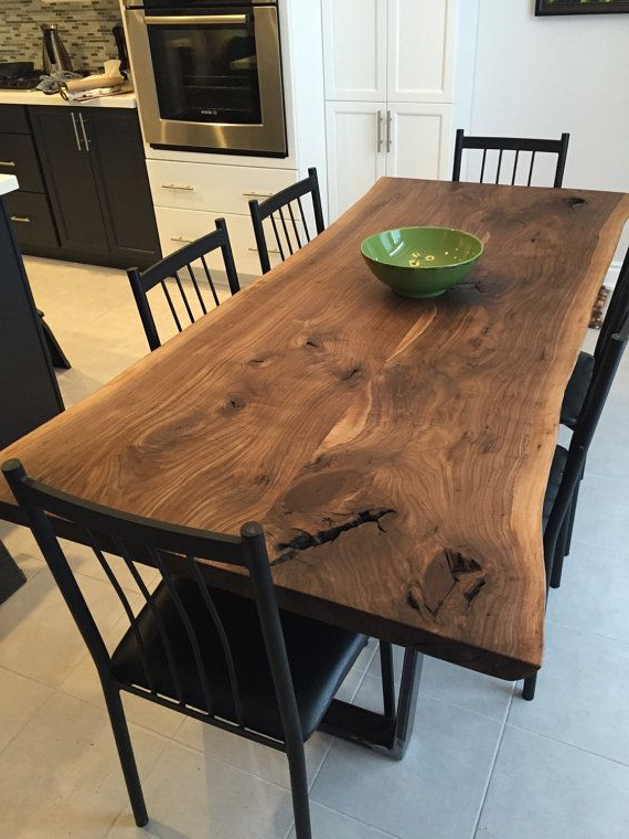 Luxedge Furniture Co. Epoxy Tables, River Tables, Live Edge Tables Regarding Fashionable Walnut Dining Tables (Gallery 6 of 20)
