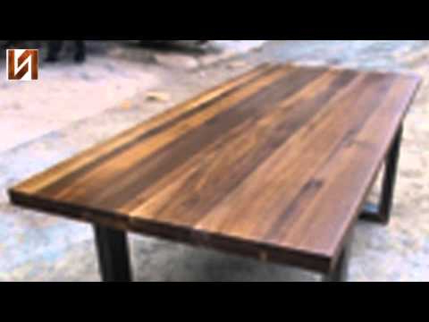 Lyon Dining Tables With Best And Newest Nuevo Lyon Dining Table Seared Oak, High Polish Stainless – Youtube (View 12 of 20)