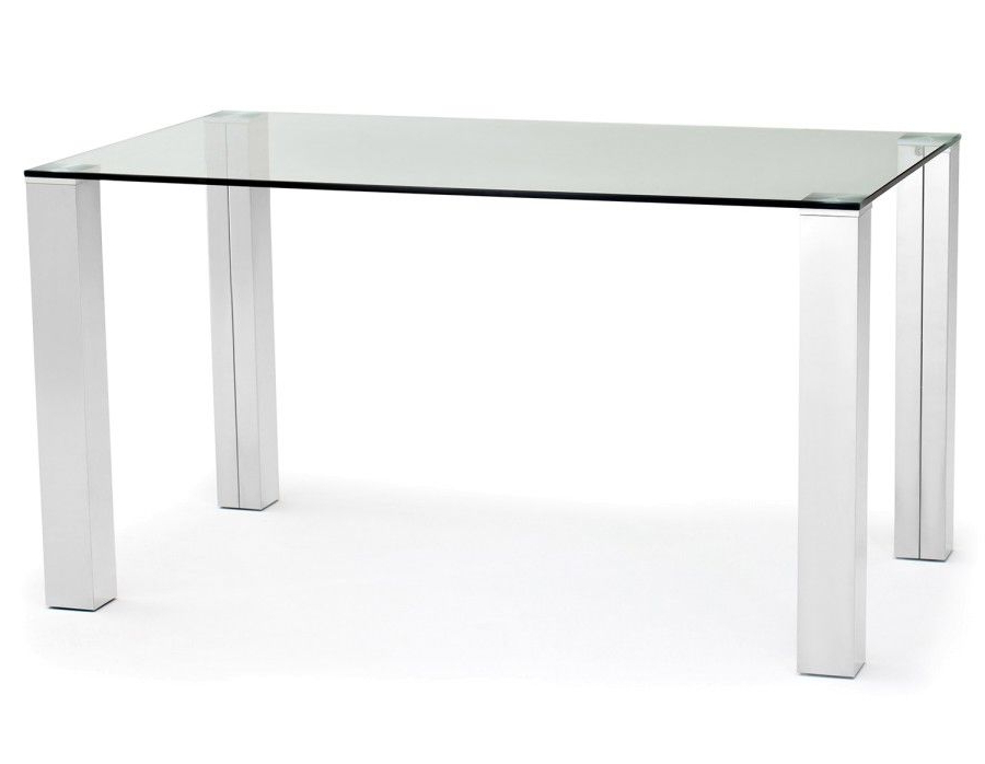 Macao Glass And Stainless Steel Dining Table (View 14 of 20)