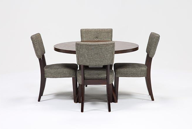 Macie Round Dining Tables Within Best And Newest Macie 5 Piece Round Dining Set (View 9 of 20)