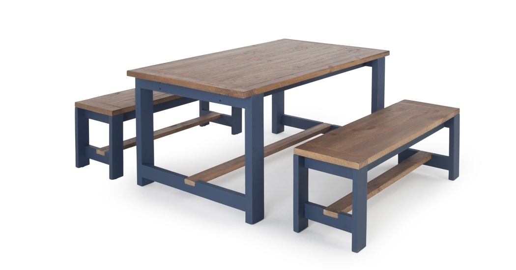 Made With Regard To 2018 Blue Dining Tables (View 14 of 20)