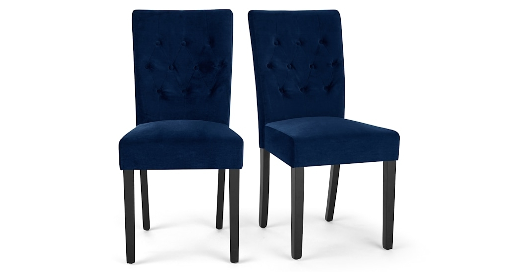 Made Within Dining Chairs With Blue Loose Seat (View 5 of 20)