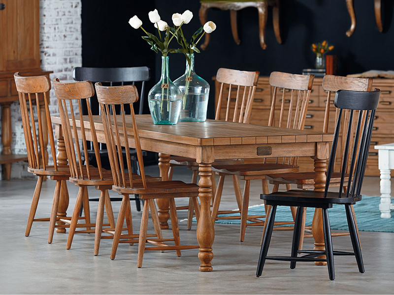 Magnolia Home Breakfast Round Black Dining Tables For Fashionable Farmhouse Vase Turned Tablemagnolia Home (View 10 of 20)