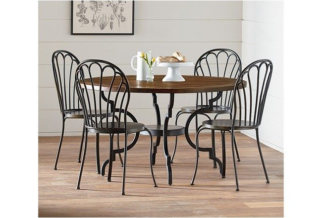 Magnolia Home Breakfast Round Black Dining Tables In Famous Magnolia Home Breakfast Round Black Dining Tablejoanna Gaines In (View 2 of 20)