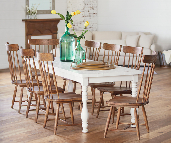 Magnolia Home Dining – Sigman Mills Furniture With Regard To Current Magnolia Home Taper Turned Jo's White Gathering Tables (View 7 of 20)