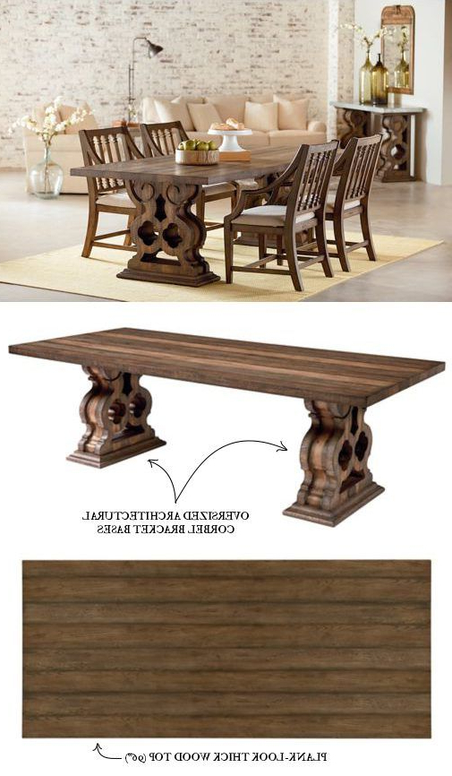 Magnolia Home Double Pedestal Dining Tables Inside Most Recently Released This Is A Quaint, Antique Looking Piece, Unique In It's Sturdiness (View 2 of 20)