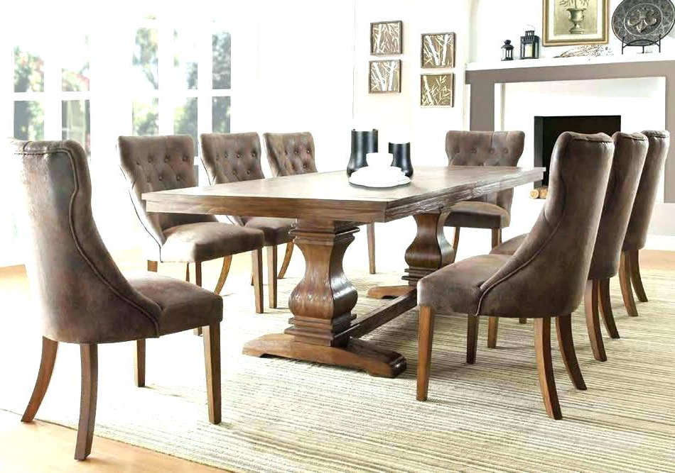 Magnolia Home Double Pedestal Dining Tables Within Latest Black Round Pedestal Dining Table Set Magnolia Home Room Top Tier (View 11 of 20)