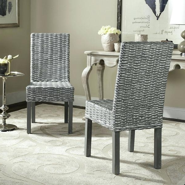 Magnolia Home Entwine Rattan Side Chairs For Most Recent Side Chair Rattan Dining Chairs – Hugreen (View 13 of 20)