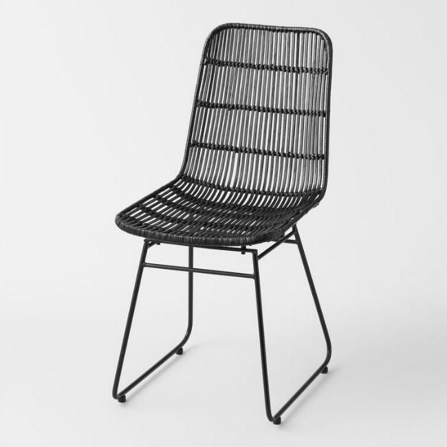 Magnolia Home Entwine Rattan Side Chairs Inside Latest Black Wicker Emily Chairworld Market (View 8 of 20)
