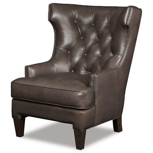 Magnolia Home Hamilton Saddle Side Chairs Intended For Most Recently Released Hamilton Home Club Chairs Traditional Wing Back Club Chair With (View 8 of 20)