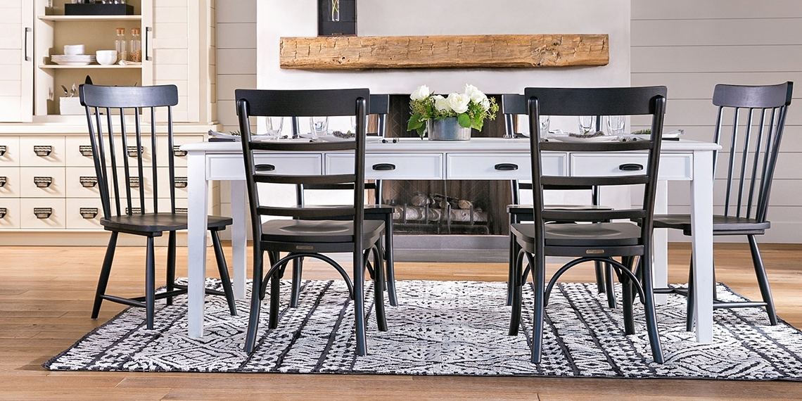 Magnolia Home Harper Chimney Side Chairs Regarding 2017 Country/rustic Dining Room With Magnolia Home Keeping Table (View 10 of 20)