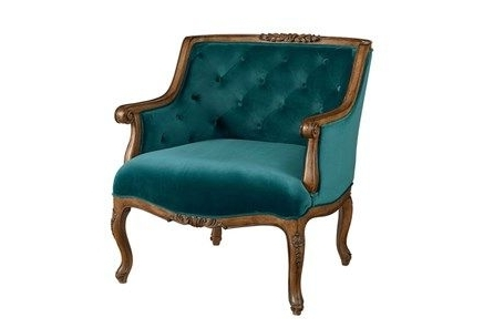 Magnolia Home Harper Patina Side Chairs Within Favorite Magnolia Home Bloom Teal Accent Chairjoanna Gaines (View 13 of 20)