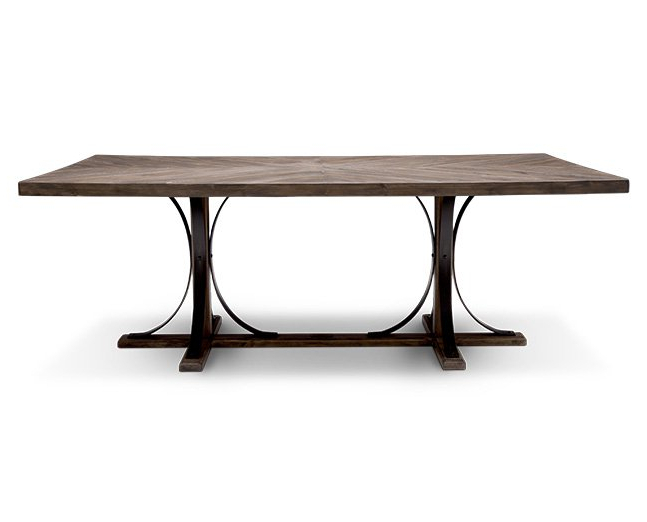 Magnolia Home Iron Trestle Dining Table – Furniture Row Intended For Preferred Magnolia Home Shop Floor Dining Tables With Iron Trestle (View 10 of 20)